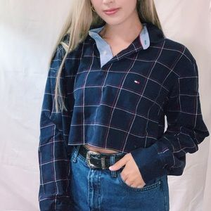 Tommy Hilfiger Cropped Long Sleeve Polo